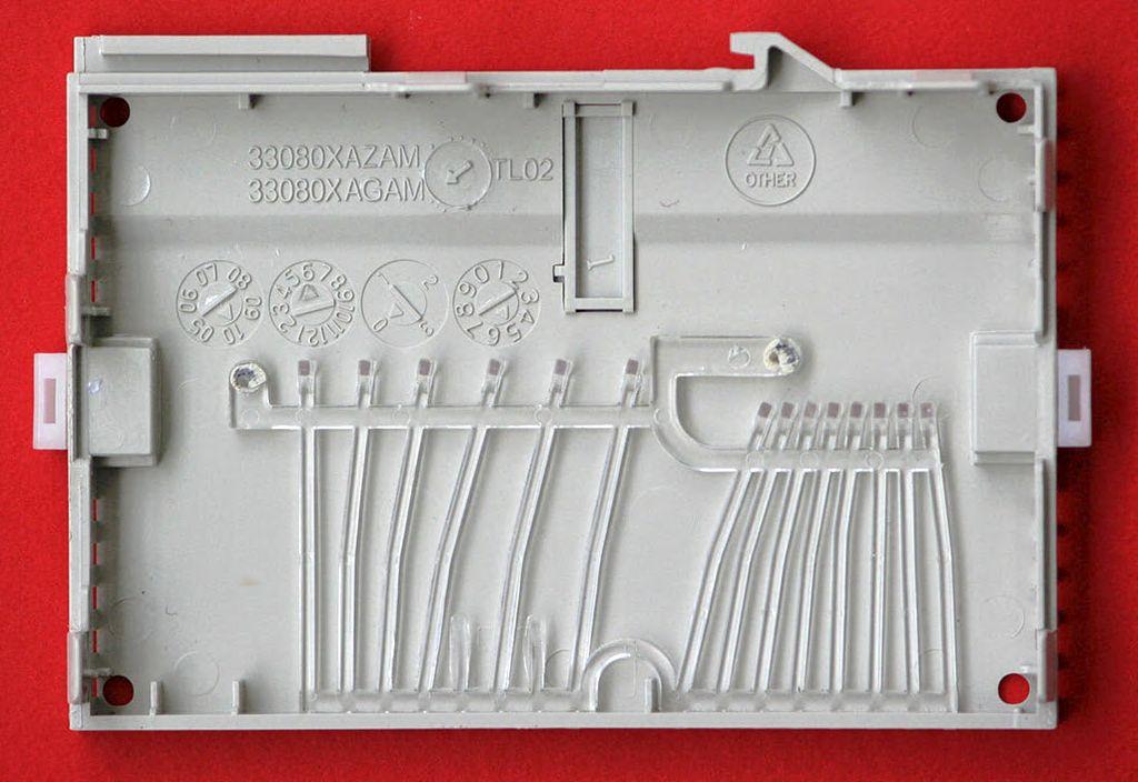 Рис.1 - Крышка корпуса, внутренняя сторона Delta Electronics DVP14SS11R2