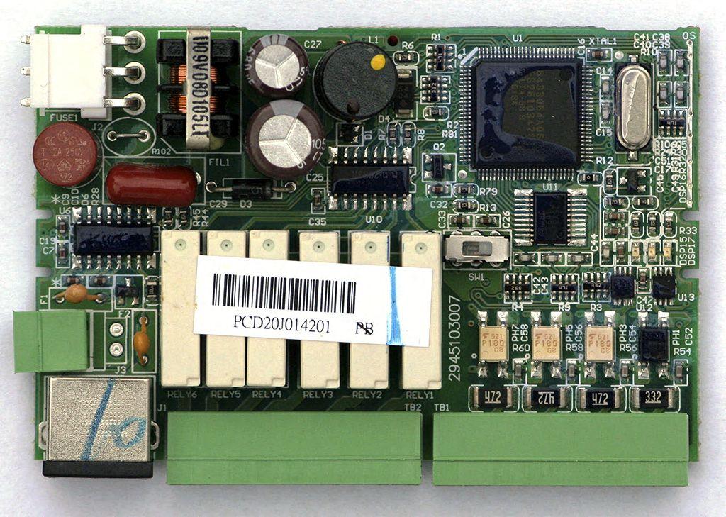 Рис.2 - Плата, верхняя сторона Delta Electronics DVP14SS11R2