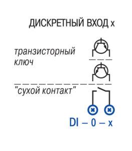 Схема подключения дискретных входов ПЛК100