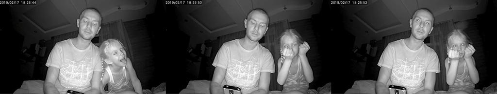 Рис. 2 — В темноте камера тоже прекрасно видит — качество изображения на высоте.