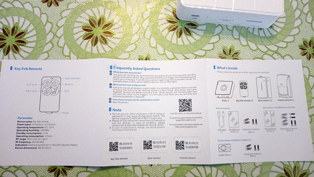 Рис. 2 — Паспорт устройства