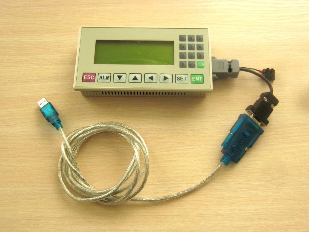 Рис. 8 — Панель с подключенным преобразователем RS232-USB