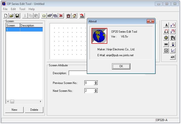 Рис. 10 — OP20 Series Edit Tool v6.5