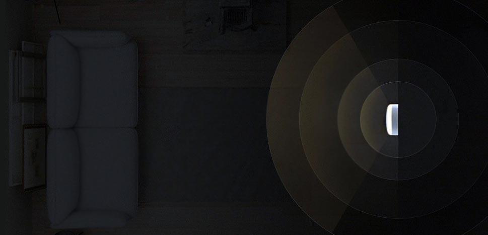 датчик движения с диапазоном обнаружения движения до 120 градусов и 7 метров