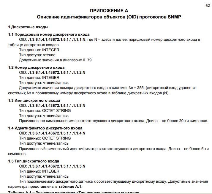 Рис. 19 — Выдержка из РЭ iNode CE-35D