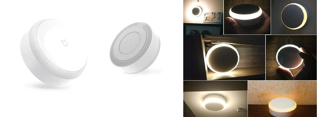 Рис. 6 — Xiaomi Mijia Night Light и примеры его использования