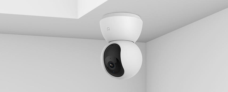 Камера представляет собой шарик с объективом на одной половинке и динамиком громкой связи на другой