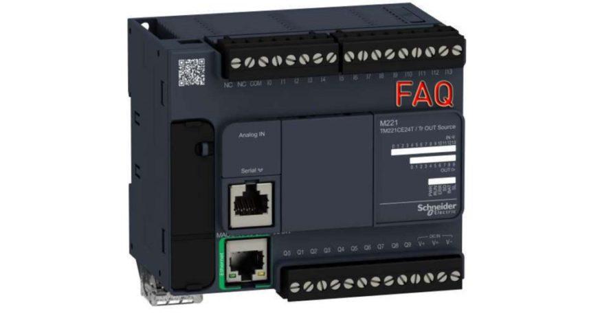 Горячий FAQ о ПЛК Schneider Modicon M221