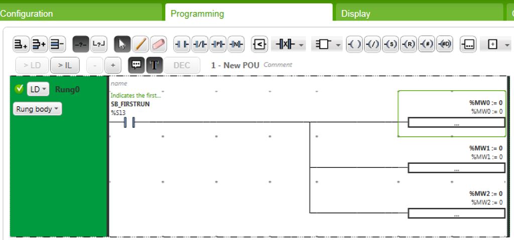 Рис. 6 — Сброс данных при старте программы