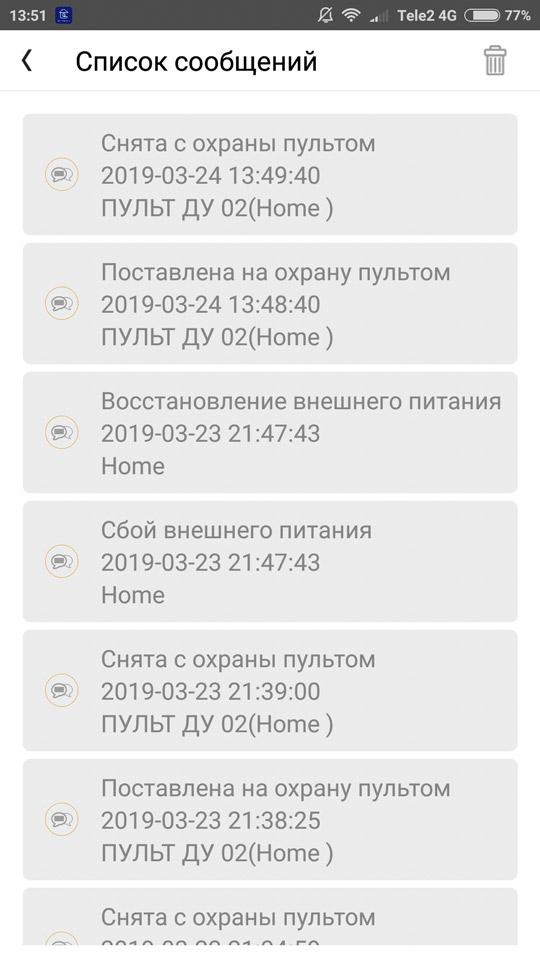 Рис .24 — Экран со списком сообщений