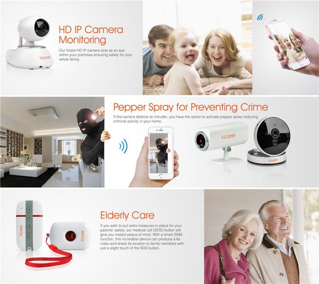 Smart Alarm Systems Vcare 2 описание функций