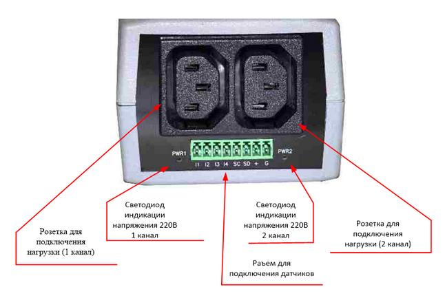 NetPing 2/PWR-220 v3/ETH - вид сзади