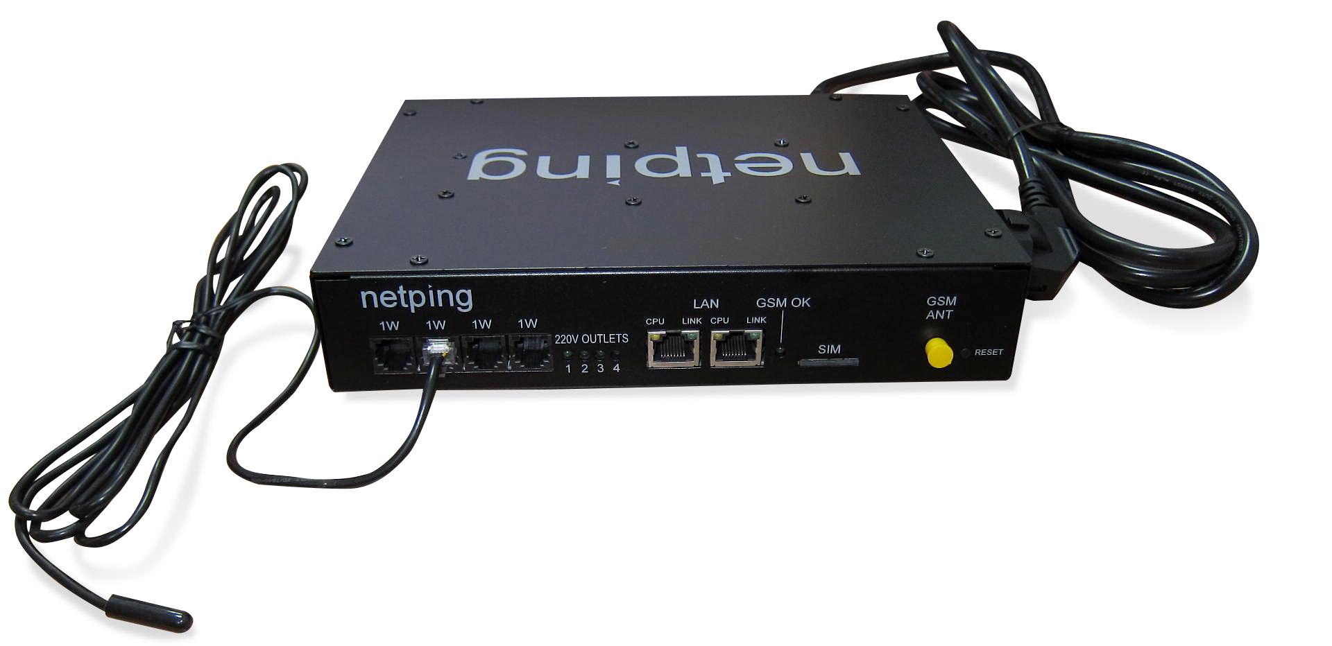 NetPing 4/PWR-220 v3/SMS - вид спереди