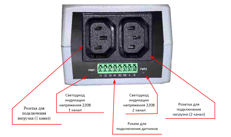 NetPing 2/PWR-220 v4/SMS - вид сзади