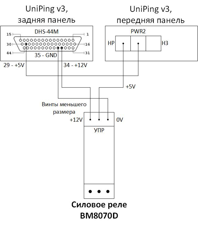 BM8070D - схема подключения к UniPing v3