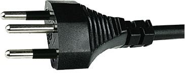 Контакт заземления переходника может быть использован только с вилкой, контакт заземления которой представляет из себя штырь