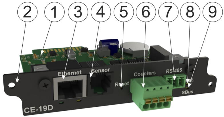 CE-19D сетевой WEB/SNMP контроллер для iNode 19D - внешний вид