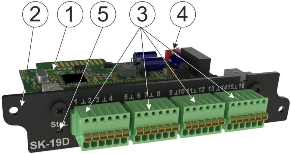 SK-19D модуль контроля дискретных входов для iNode 19D - внешний вид