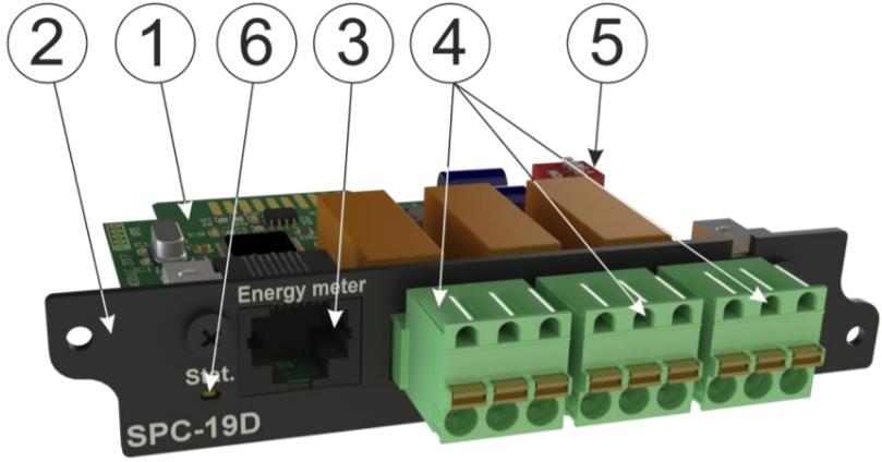 SPC-19D модуль контроля параметров счетчиков электроэнергии для iNode 19D - внешний вид