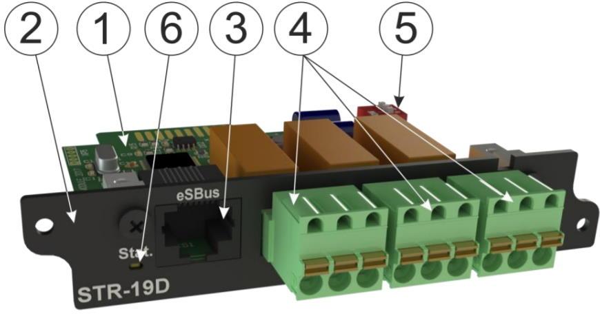 STR-19D модуль контроля цифровых датчиков и релейных выходов для iNode 19D - внешний вид