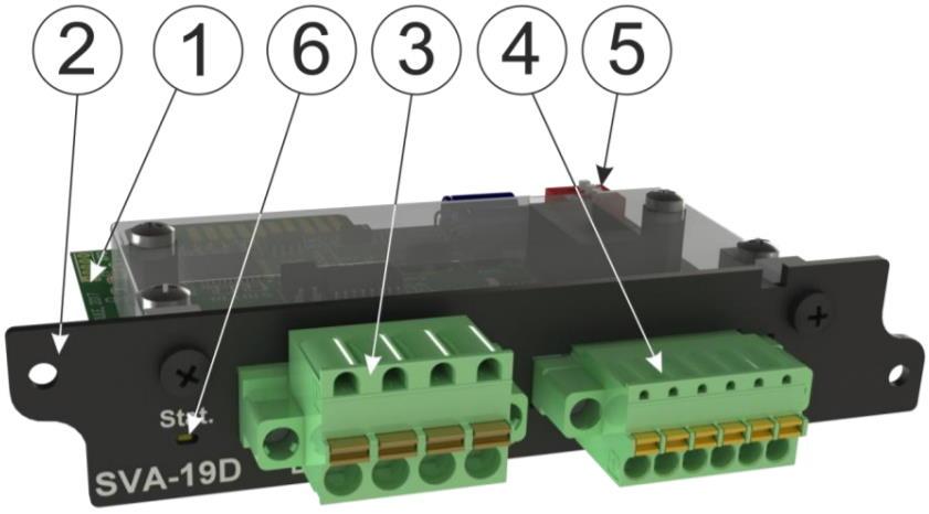 SVA-19D модуль контроля параметров электропитания 1/3-х фазной сети переменного тока для iNode 19D -внешний вид