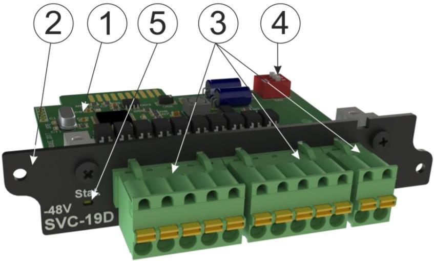 SVC-19D (-48V) модуль контроля наличия напряжения для iNode 19D - внешний вид