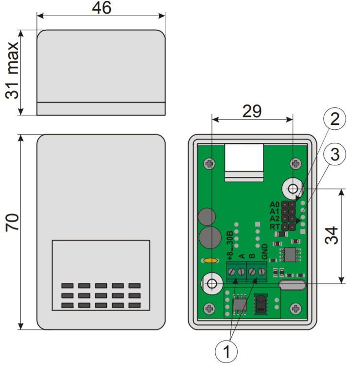 PS-RS485 - цифровой датчик атмосферного давления и температуры - внешний вид