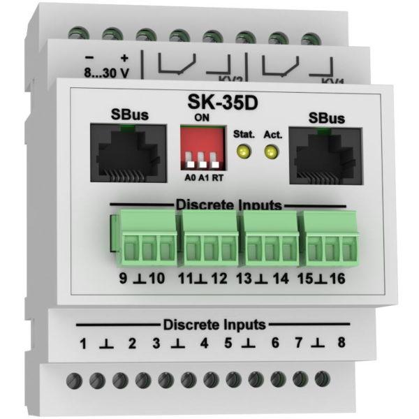 SK-35D модуль контроля дискретных входов