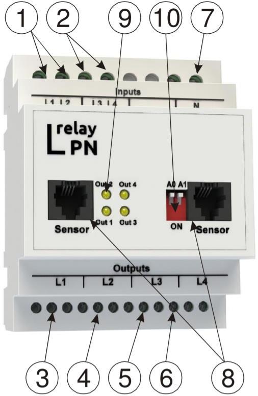LPN relay - модуль расширения релейных выходов - внешний вид