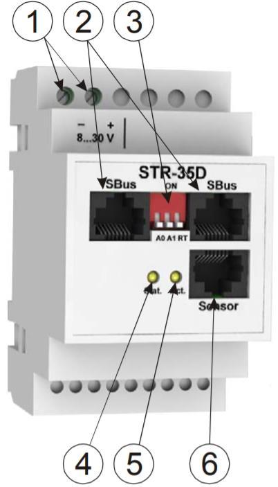STR-35D - модуль контроля цифровых датчиков - внешний вид