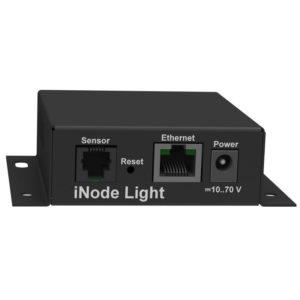 iNode-Light (M) WEB/SNMP-адаптер с четырьмя дискретными входами, входом измерения постоянного напряжения, релейным выходом и цифровым интерфейсом датчиков (металлический корпус)