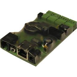 iNode-Light POE WEB/SNMP-адаптер с четырьмя дискретными входами, входом измерения постоянного напряжения, релейным выходом и цифровым интерфейсом датчиков