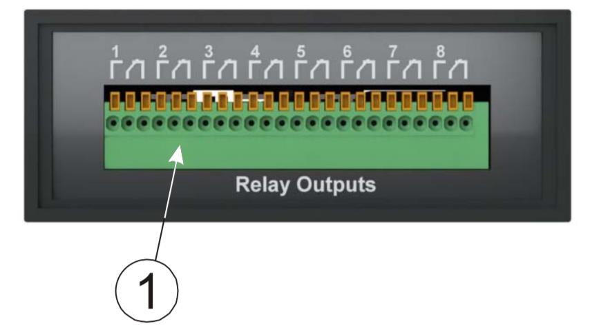 iNode-Relay - сетевой WEB / SNMP адаптер с восемью релейными выходами и одним дискретным входом (тип «сухой контакт») - задняя панель