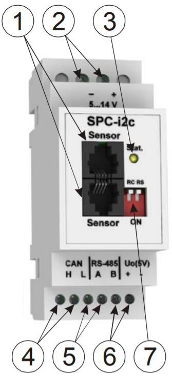 SPC-i2c - модуль чтения показаний счетчиков электроэнергии - внешний вид