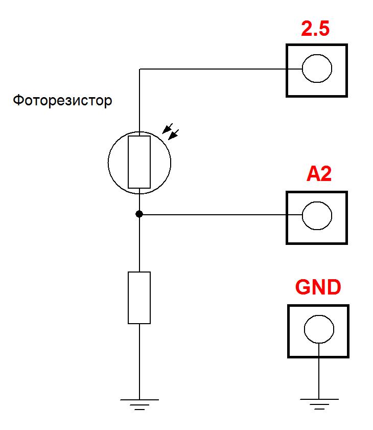 Laurent-5: АЦП для датчика освещенности