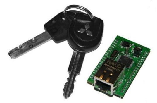 Относительные размеры модуля Jerome (для сравнения - ключи от автомобиля)