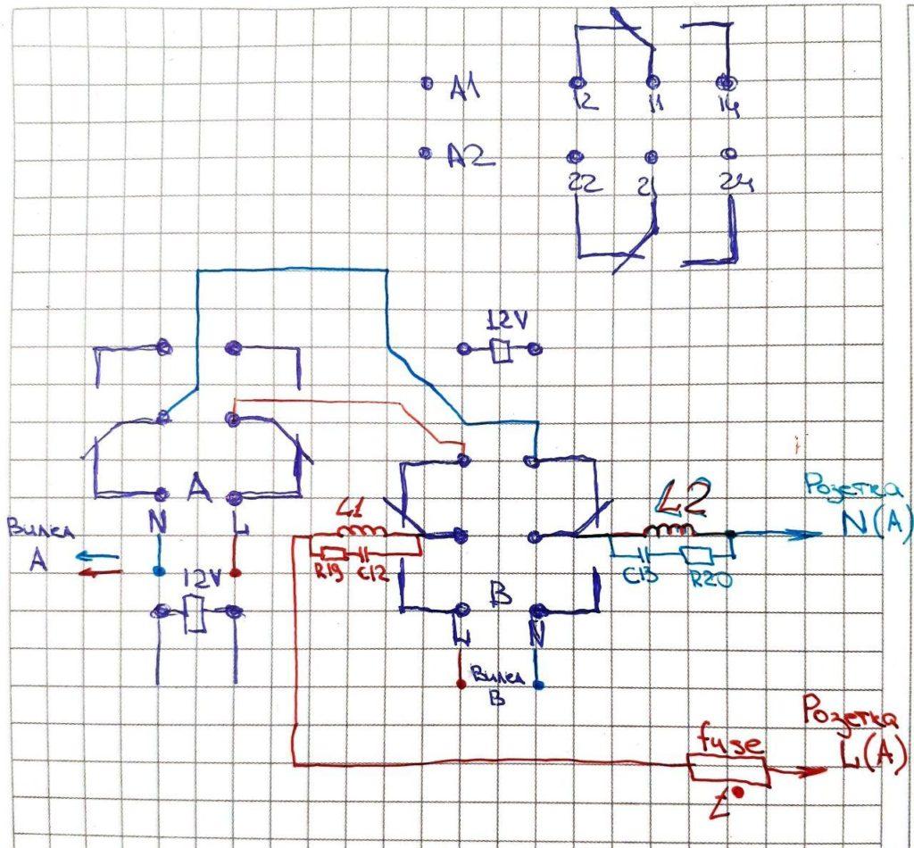 Рис. 9 — Упрощенная принципиальная схема силовой части устройства