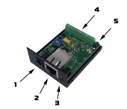 Контакты и рабочие узлы устройства SNR-ERD-2s