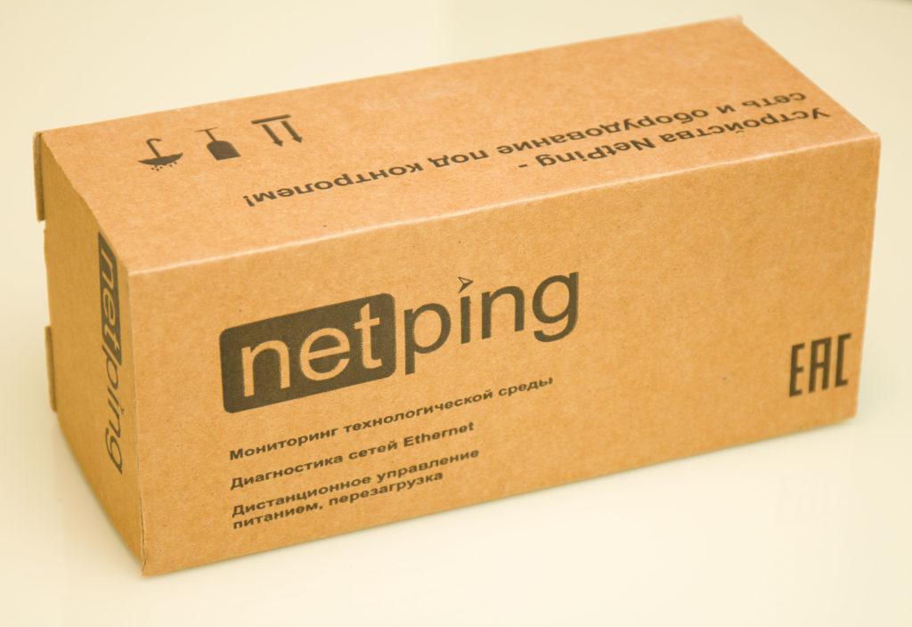 Рис. 1 — Коробка устройства NetPing 2/PWR-220 v12/ETH