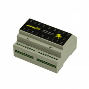 Рис.1 - SNR-RScounter-16i-SMART - RS485 (ModBus и CPD) универсальный расширитель портов ввода с функцией подсчёта импульсов