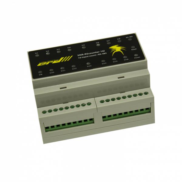 Рис.2 - SNR-RScounter-16i-SMART - RS485 (ModBus и CPD) универсальный расширитель портов ввода с функцией подсчёта импульсов
