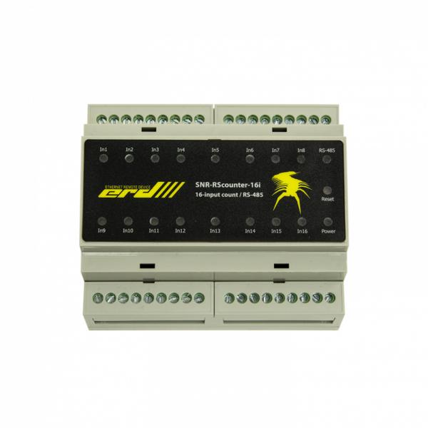 Рис.3 - SNR-RScounter-16i-SMART - RS485 (ModBus и CPD) универсальный расширитель портов ввода с функцией подсчёта импульсов
