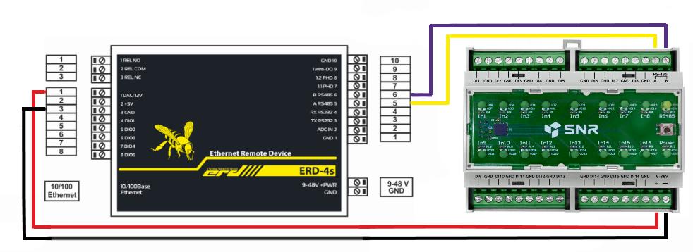 Подключение SNR-RScounter-16i-SMART к SNR-ERD-4s