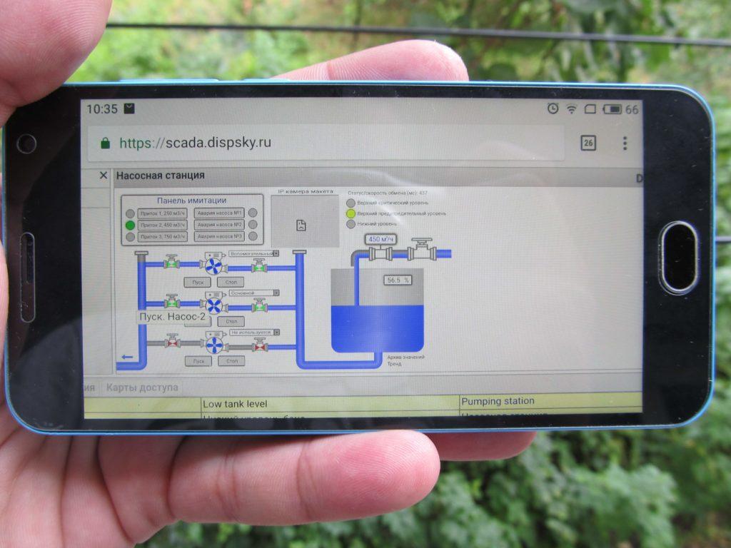 Рис.12 — Отображение мнемосхемы на 5'' экране Meizu M2