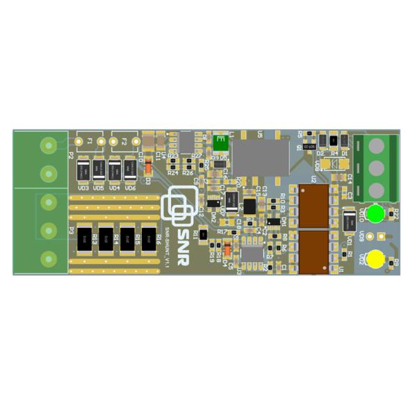 Рис.2 - Шунт, цифровой монитор напряжения, тока