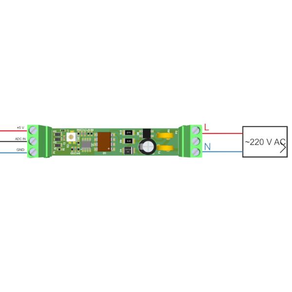 """Рис.2 - Датчик напряжения на DIN рейку с аналоговым выходом """"Phase Analyser-DIN"""""""