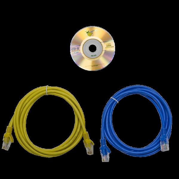 Рис.3 - Комплект поставки TP-BASIC-40A08B-32L1 - блок розеток с функцией измерения серия BASIC, 40xC13, 8xC19, вход IEC60309 32A (2P+PE)