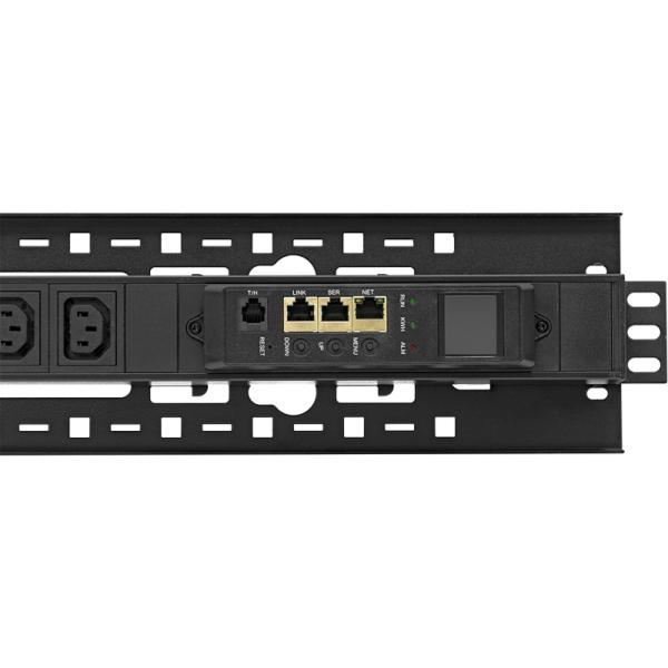 Рис.3 - TP-BASIC-20A04B-32L3 - блок розеток с функцией измерения серия BASIC, 20xC13, 4xC19, вход IEC60309 3x32A (3P+N+PE)