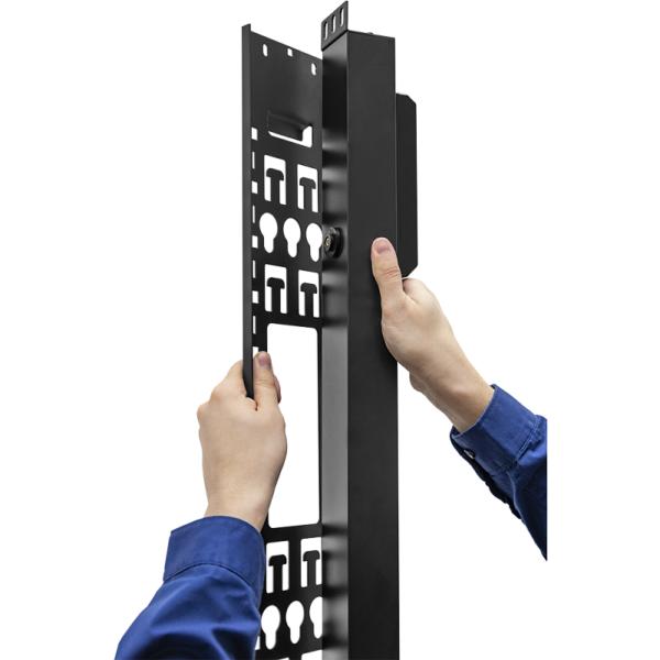 Рис.3 - TP-STD-B-20A04B-32L1 - блок розеток с функцией измерения каждой розетки серия STD, 20xC13, 4xC19, вход IEC60309 32A (2P+PE)