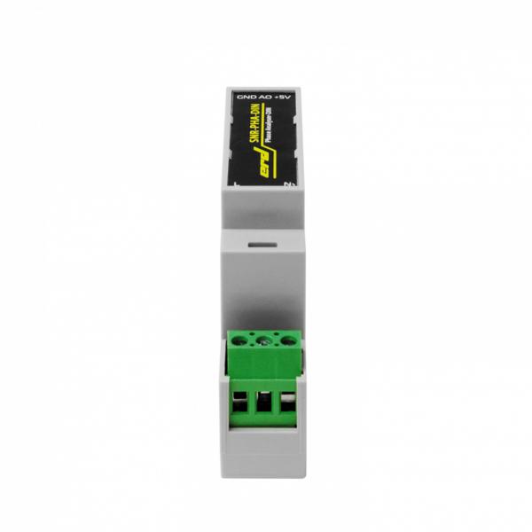 """Рис.3 - Датчик напряжения на DIN рейку с аналоговым выходом """"Phase Analyser-DIN"""""""
